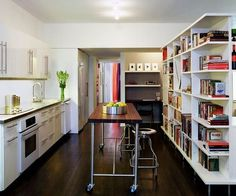Ikea Kitchen and Bookshelves