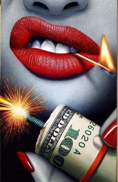Best Bang For Your Buck Original Oil Painting Wallpaper Boca, Pop Art Wallpaper, Kreative Portraits, Lips Painting, Joker Wallpapers, Smoke Art, Foto Art, Digital Art Girl, Poker Tattoo