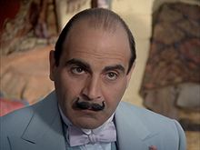 Hercule Poirot (/ɜrˈkjuːl pwɑrˈoʊ/; French pronunciation: [ɛʁkyl pwaʁo]) is a fictional Belgian detective, created by Agatha Christie. Poirot is one of Christie's most famous and long-lived characters, appearing in 33 novels, one play (Black Coffee), and more than 50 short stories published between 1920 and 1975.