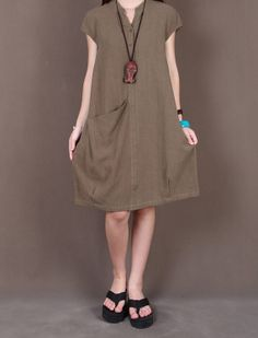 Linen maxi dress summer pullover long dress by Dressbeautiful, $62.89