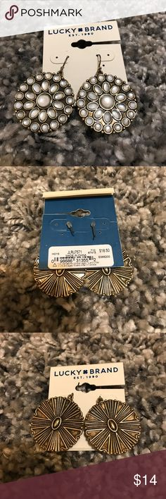 Lucky Brand Earrings NWT Lucky Brand Earrings, NWT, other pieces of this set are listed as well. Reasonable offers accepted! Bundle for additional savings! Lucky Brand Jewelry Earrings