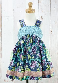 """Frosted Tulip Lulu Dress (RV $68)  **New Fit**  Chest/Total Length 2: 11.75"""" / 20.25"""" 4: 12.25"""" / 22"""" 6: 13.25"""" / 24.5"""" 8: 14"""" / 27.5"""""""