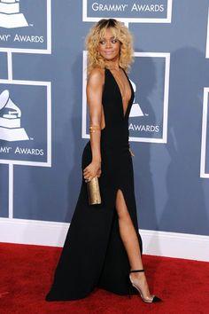 Style Evolution: Rihanna - via MyDaily. Annual Grammy Awards, L. Rihanna Black Dress, Rihanna Style, Dress Black, Beautiful Dresses, Nice Dresses, Formal Dresses, Rihanna Fenty, Armani Gowns, Belle