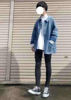 Super Style Jeans Jacket Men Ideas - Men's style, accessories, mens fashion trends 2020 Jean Jacket Outfits, Denim Jacket Men, Outfit Jeans, Men's Jeans, Korean Fashion Men, Korean Street Fashion, Outfits With Converse, Casual Outfits, Ulzzang