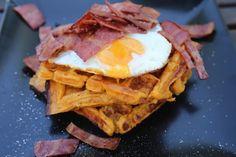 RECETA FITNESS&PALEO/ Gofres, bacon y huevo…el desayuno!