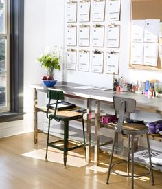 Clipboard wall inspiration for the office  //  via @A Pair & A Spare