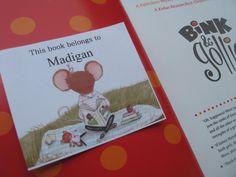 Bookplates for kids- Children's Stickers Childrens Bookplates - Stickers. $12.00, via Etsy.