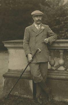 A Man In Knickerbockers. ca. 1910.