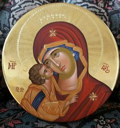 Blessed Mother Mary, Blessed Virgin Mary, Art Alevel, Byzantine Icons, Madonna And Child, Orthodox Icons, Us Images, Religious Art, Religion