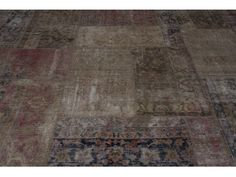 Vintage Patchwork (Beige with Red Accents)