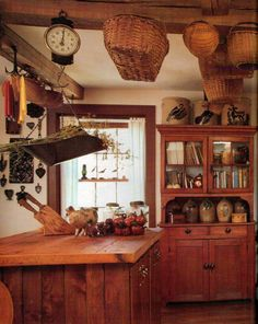 Cool wood kitchen..a little bit country