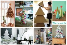 Christmas tree ideas - Paper and books