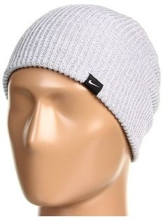 ShopStyle: NikeSlouch Knit Beanie (Wolf Grey/White) - Hats