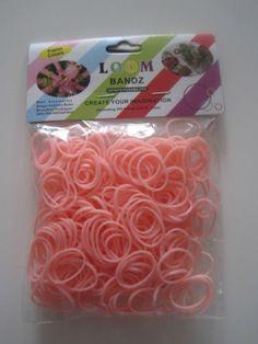 peach fun loom bands