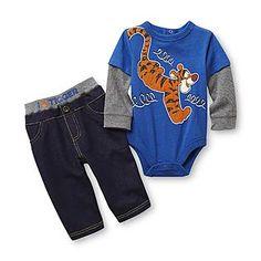 Disney- -Infant Boy's Bodysuit & Pants - Tigger