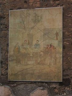 December Room reproduction of painting of the Judgement of Paris on north wall of oecus. Fresco, Judgement Of Paris, Ancient Romans, Vintage World Maps, December, Paintings, Wall, Room, Pompeii