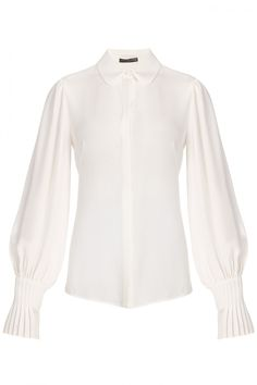 Alexander McQueen Pleat Sleeve Blouse