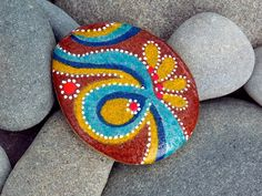 Moroccan Spice / Painted Rock / Sandi Pike by LoveFromCapeCod