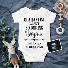 April 2021, 0-3 months Product of Quarantine and Chill Baby Onesie