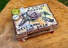 Box of rain // OOAK Repurposed Special Bustany by Frobscottle, $18.00