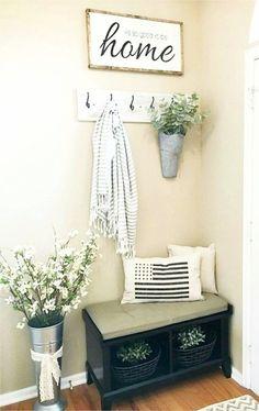 small foyers / small entryways - DIY decorating ideas for small foyers and tiny entryways and entrance halls #DIY*HomeDecorating*Ideas
