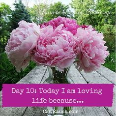 Dare to Declare 30 day Challenge Day 10: Today I am loving life because.... It's a 30 day challenge to declare what we love & enjoy about ourselves, our lives and the world. Complete the phrase in the comments below - so we can celebrate together.