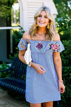 Cinco De Mayo Inspo with Embroidered Dress by lifestyle and fashion college blogger Audrey Madison Stowe
