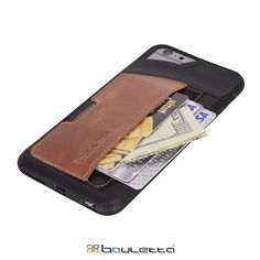 Wallet Case, Genuine Leather, Handmade Leather Case, Fashion, Business Fashion,Men style, iPhone6, iPhone 6 Plus Simply fits 3 cards (Credit Cards, IDs, etc.) plus cash Resistant full-frame safety from any drops and scratches Lay-Flat screen guard