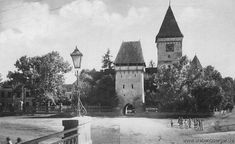 Agnetheln - Kirchenburg um 1935