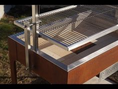 Argentina Grill, Custom Bbq Grills, Brick Bbq, Wood Grill, Wood Charcoal, Building A Treehouse, Bed Frame Design, Grill Design, Outdoor Kitchen Design