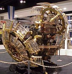 steampunk time machine - This so reminds me of the model used in the early movie made to HG Wells The Time Machine Steampunk Accessoires, Mode Steampunk, Steampunk Gadgets, Steampunk Design, Steampunk Fashion, Steampunk Heart, Steampunk House, Time Travel Machine, The Time Machine