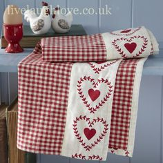 Perk up a plain tea-towel with a pretty border