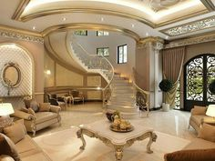 مدل خونه mansion interior, luxury interior, home interior design, interior Mansion Interior, Luxury Homes Interior, Luxury Home Decor, Home Interior Design, Interior Stairs, Interior Architecture, Design Living Room, Luxury Homes Dream Houses, Dream Homes