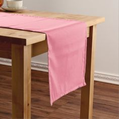 Plain Flamingo Love Pink table runner - minimal gifts style template diy unique personalize design
