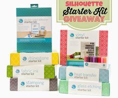 Win a Silhouette Starter Kit! Winner's chooses which of the 8 Silhouette Starter Kits they'd like! #silhouettestarterkits #Silhouette #Silhouetteamerica #giveaways | www.silhouetteschool.blogspot.com