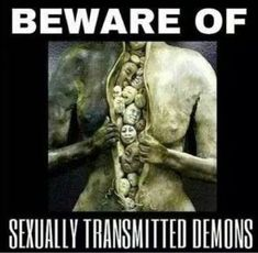 "I want to school you on STDs no, not ""sexually transmitted diseases"". I'm talking about spiritual STDs: Sexually Transmitted Demons! Did you know that demonic spirits can be transferred to you during sex and/or sexual activity? Spiritual Warfare, Spiritual Awakening, Awakening Quotes, Soul Ties, Bible Knowledge, Tantra, Demons, Wisdom, Relationships"