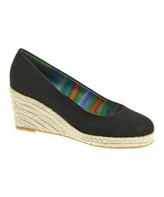 Love this Black Feri Espadrille by Soft Style by Hush Puppies on #zulily! #zulilyfinds