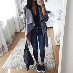 simple outfit every women can recreate Teenager Fashion Trends, Teen Fashion, Winter Fashion, Fashion Outfits, Womens Fashion, Mode Outfits, Trendy Outfits, Fall Winter Outfits, Spring Outfits