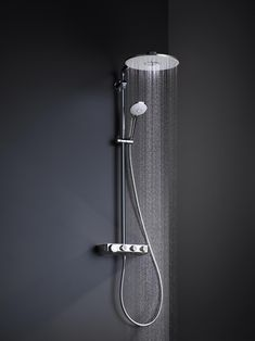 Shower Faucet Chrome Silver Wall Mounted Thermostatic Bathtub Faucet Round Rain Handheld Shower Bathroom Mixer Taps Se To Enjoy High Reputation At Home And Abroad Bathroom Fixtures