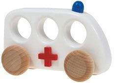 Bajo Ambulance - Fun & simple a wooden  toy - that uses eco materials including Bee's Wax