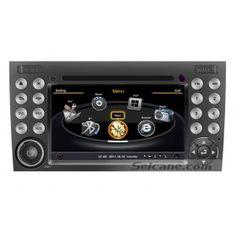 2 din appui tête après marché autoradio stéréo Lecteur DVD GPS système de sat nav pour 2000-2011 Mercedes SLK Class R171 SLK200 SLK280 SLK300 SLK350 SLK55