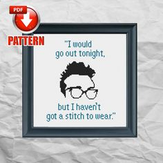 The Smiths - This Charming Man - Morrissey Lyrics Cross Stitch Pattern PDF - INSTANT DOWNLOAD by Dysfunctional Threads