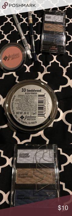 "NWT - makeup bundle New In Wrapper: NYC eyeshadow trio in ""Blues Cafe"" Jordana blush in ""Sandlewood"" Jordana eyeliner in ""Denim Blue"" Jordana glitter liner in ""Rock on Silver"" Makeup"