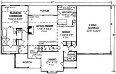 - 40145WM   1st Floor Master Suite, Bonus Room, CAD Available, Corner Lot, Country, Den-Office-Library-Study, PDF   Architectural Designs