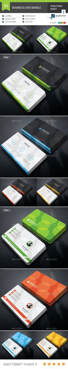 Bubble Business Card Bundle — Photoshop PSD #print #pack • Available here → https://graphicriver.net/item/bubble-business-card-bundle/17969440?ref=pxcr