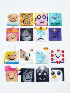 Adventure Time Perler bead Characters by ShowMeYourBits, Omg my best friend would love these!!!!! <3