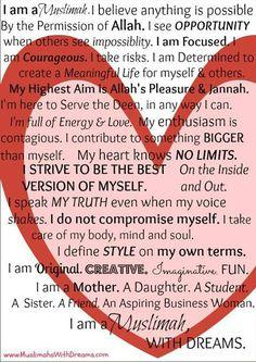 I am a Muslimah...