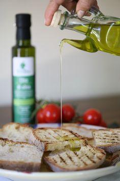bruschetta et huile d'olives