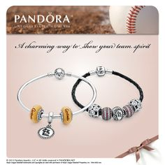 "Fill in the blank (and fill up a Pandora bracelet) with your favorite MLB team! ""Let's root, root, root for the ______________, If they don't win, it's a shame, For it's one, two, three strikes, you're out at the old ball game!"""