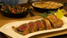 **Beef Wellington - served with vegetable mixture and potatoes gratin